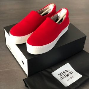 Red Opening Ceremony Cici Slip On Platform Sneaker